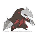 How to Draw Excadrill from Pokemon