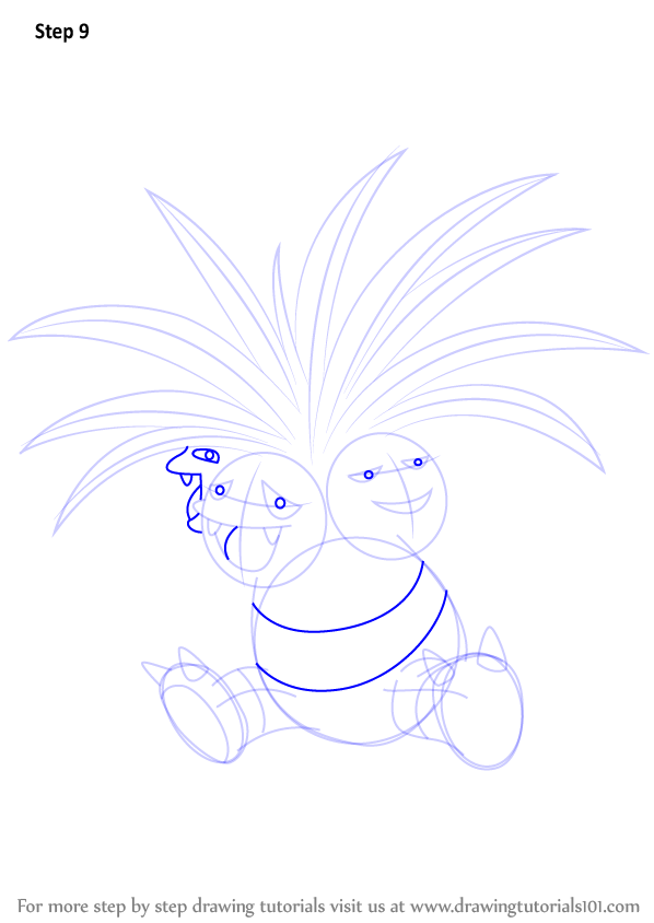 Step By Step How To Draw Exeggutor From Pokemon