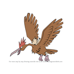 How to Draw Fearow from Pokemon