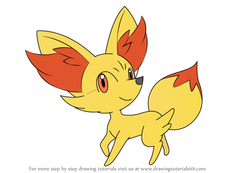 how to draw fennekin from pokemon