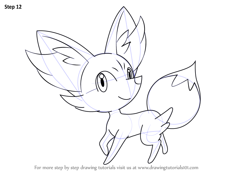 learn how to draw fennekin from pokemon pokemon step by step drawing tutorials