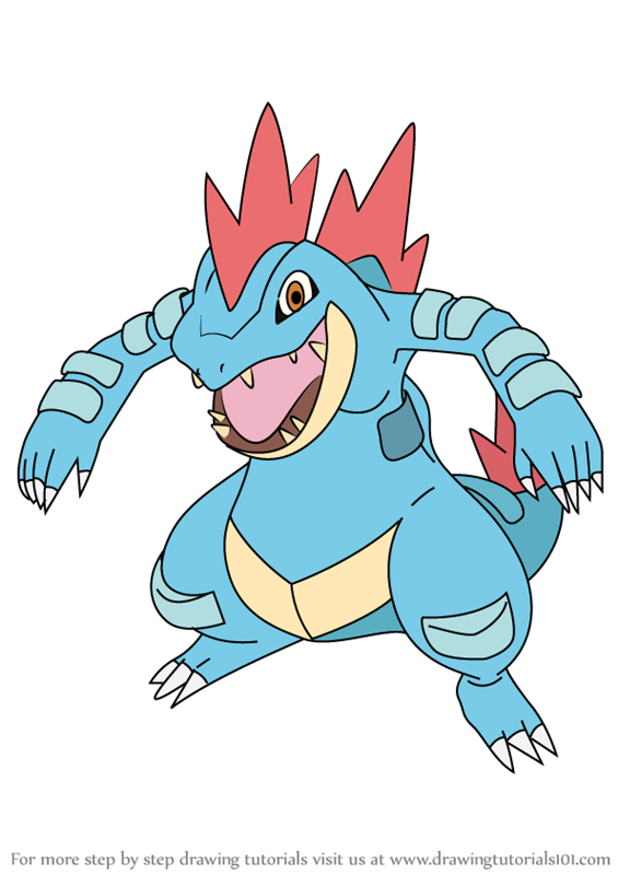 Learn How to Draw Feraligatr from