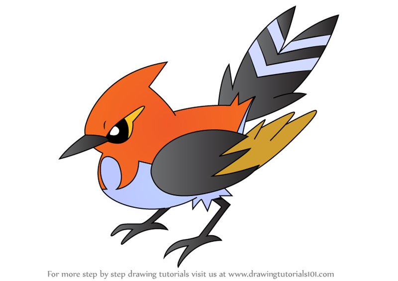 fletchinder pokemon coloring pages - photo #11