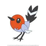 How to Draw Fletchling from Pokemon