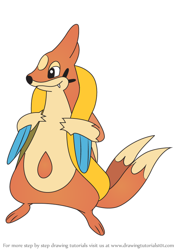 Learn How To Draw Floatzel From Pokemon Pokemon Step By