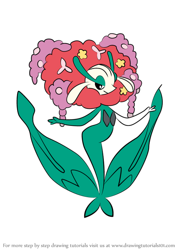 Step by step drawing tutorial on how to draw florges from pokemon