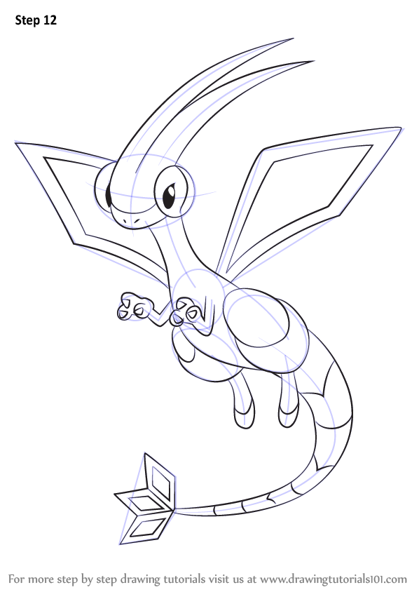 Learn how to draw flygon from pokemon pokemon step by for Flygon coloring pages