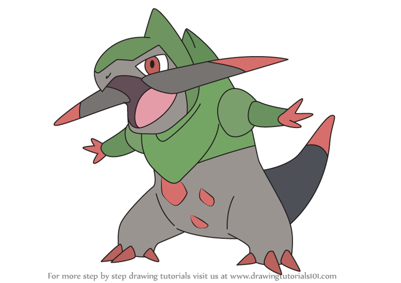 Learn How To Draw Fraxure From Pokemon Pokemon Step By