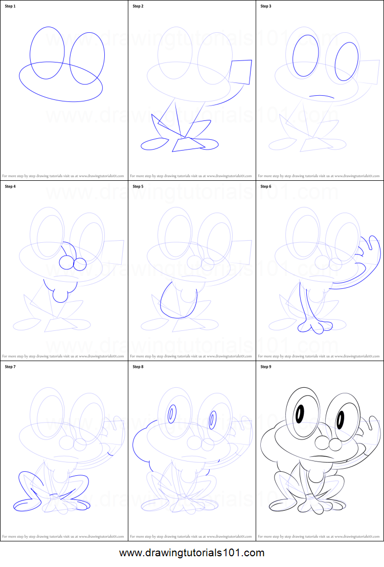 How to Draw Froakie from Pokemon printable step by step ...