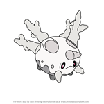 How to Draw Galarian Corsola from Pokemon