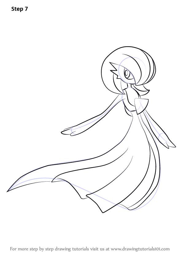 Learn How To Draw Gardevoir From Pokemon Pokemon Step By