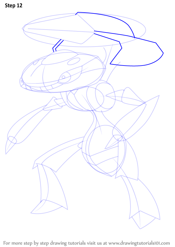 Step By Step How To Draw Genesect From Pokemon
