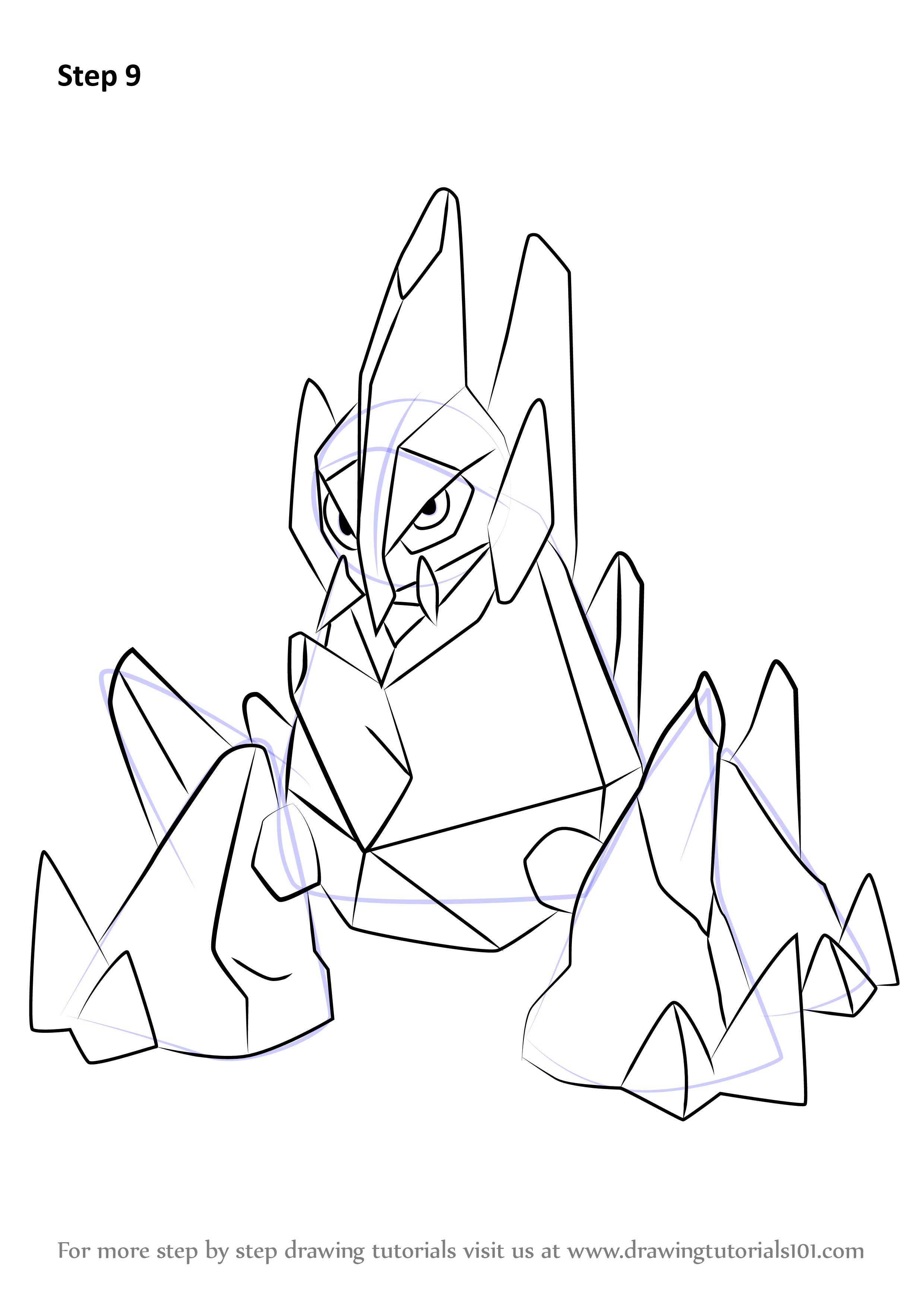 learn how to draw gigalith from pokemon pokemon step by