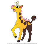 How to Draw Girafarig from Pokemon