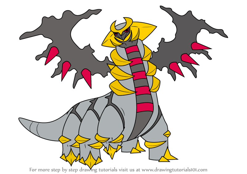 Step By Step How To Draw Giratina From Pokemon