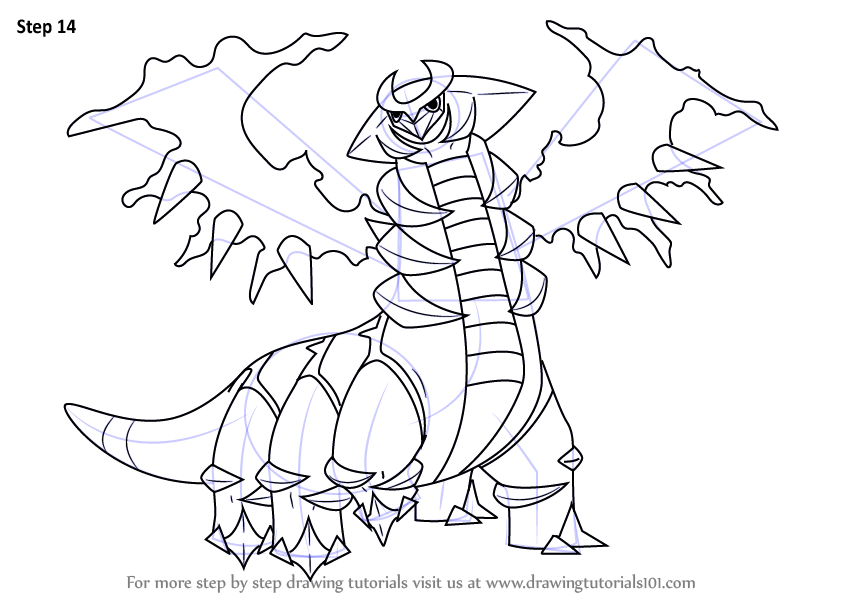 learn how to draw giratina from pokemon  pokemon  step by
