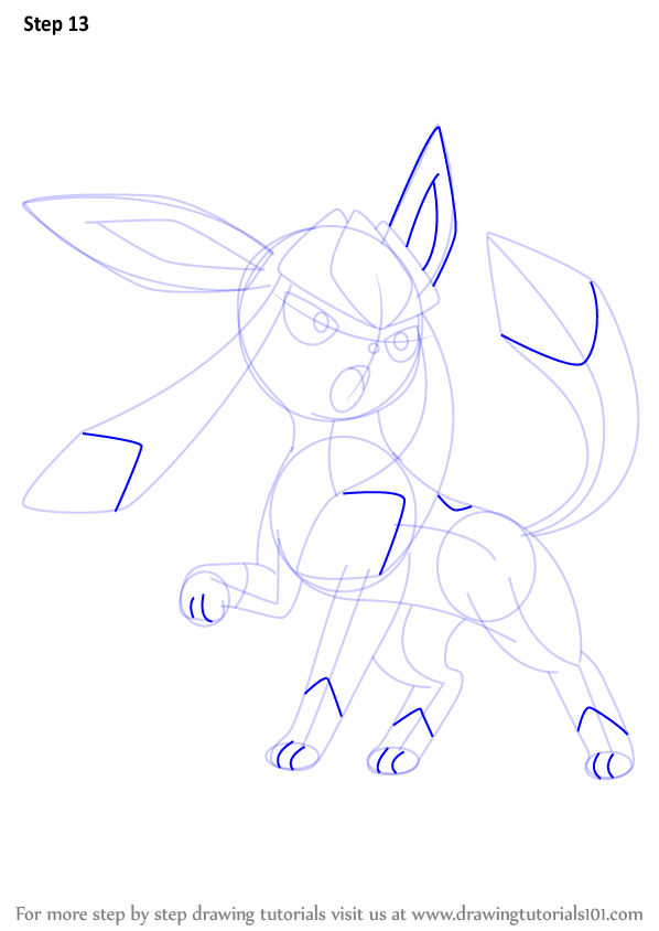 How To Draw Glaceon For Kids