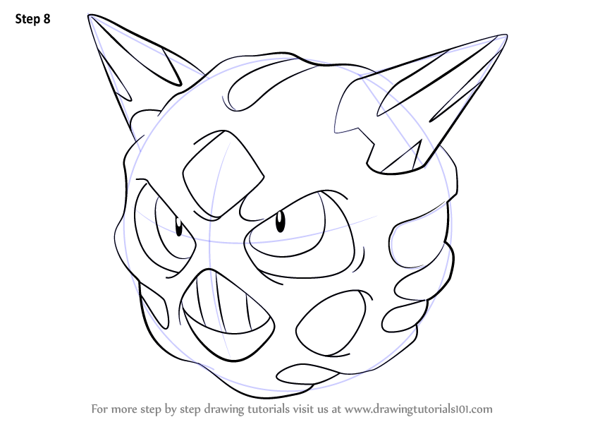 Learn How To Draw Glalie From Pokemon Pokemon Step By