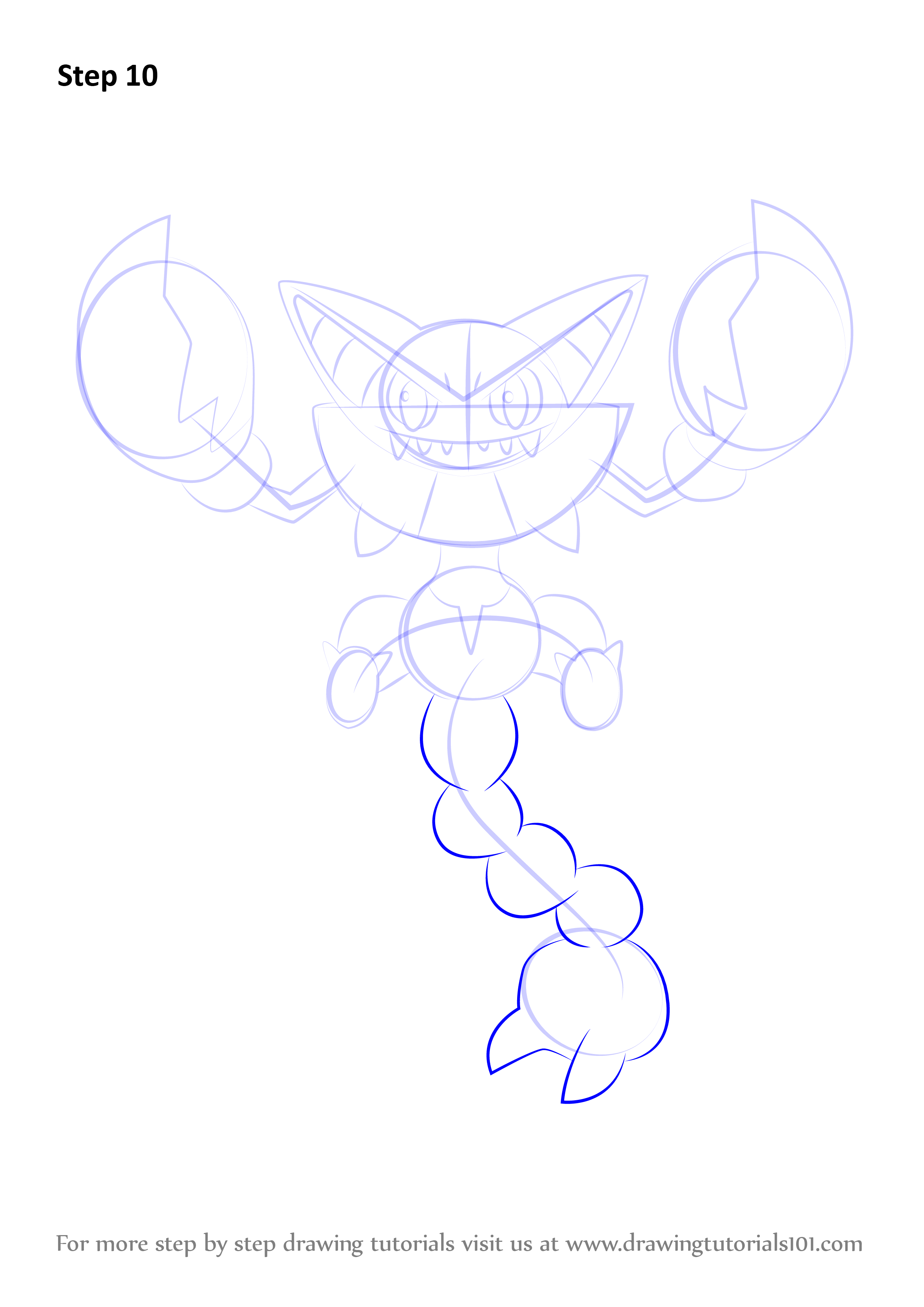 Learn How To Draw Gliscor From Pokemon (Pokemon) Step By