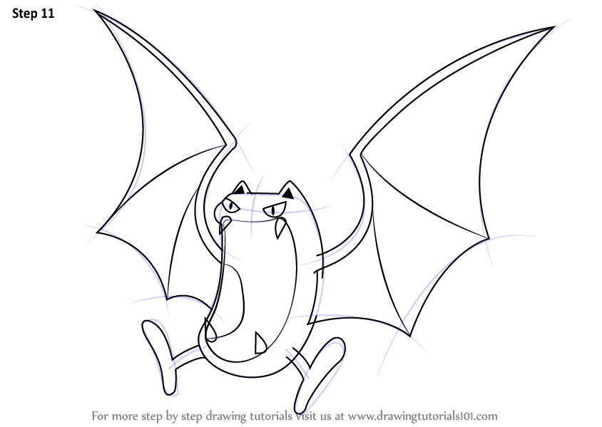 Learn How to Draw Golbat from Pokemon