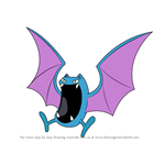 How to Draw Golbat from Pokemon