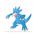 How to Draw Golduck from Pokemon