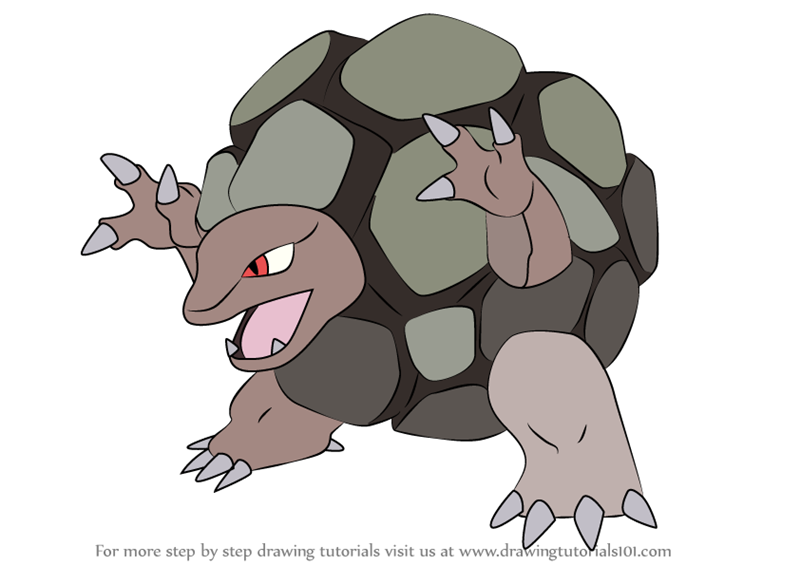 Learn How To Draw Golem From Pokemon Step By Drawing Tutorials