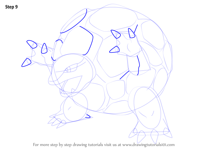 Step By Step How To Draw Golem From Pokemon