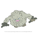 How to Draw Graveler from Pokemon