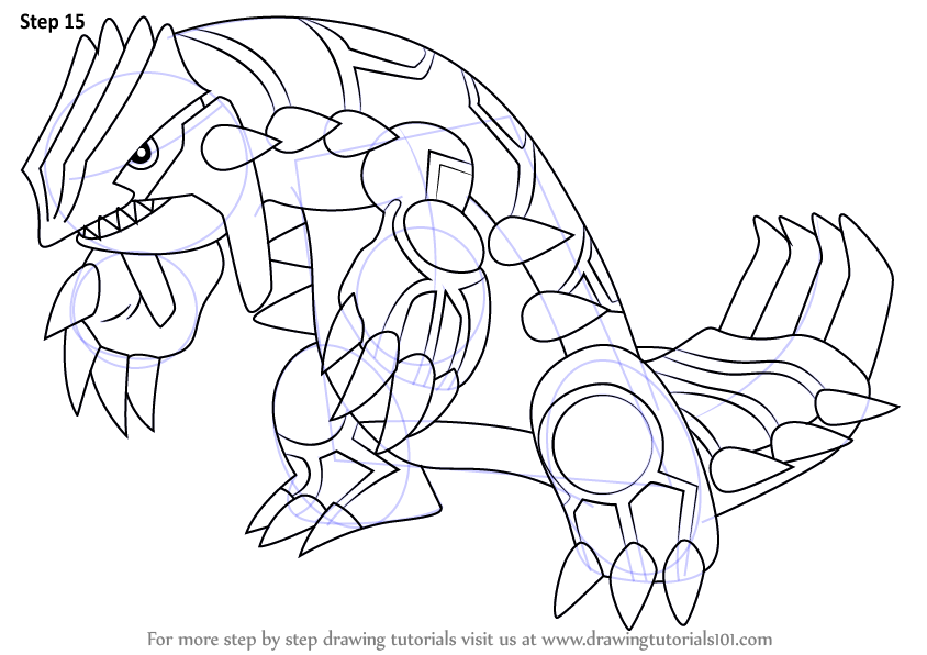 Learn How to Draw Groudon from Pokemon (Pokemon) Step by ... | 844 x 596 png 99kB