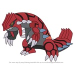 How to Draw Groudon from Pokemon