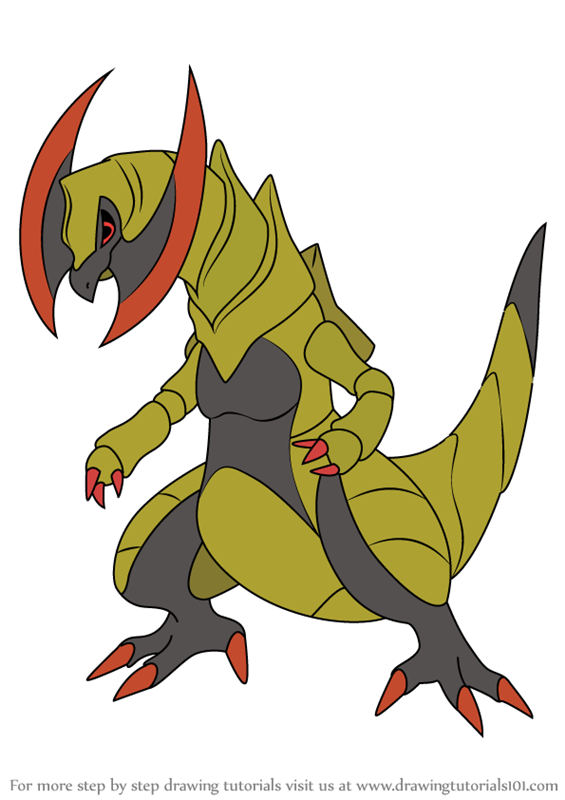 Learn How to Draw Haxorus from Pokemon (Pokemon) Step by ...