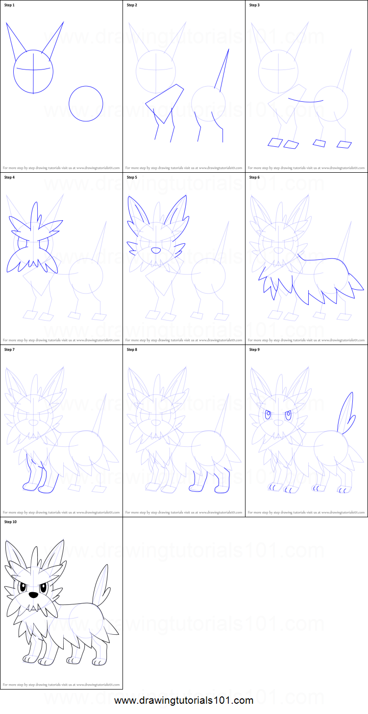 Herdier pokemon coloring pages - How To Draw Herdier From Pokemon