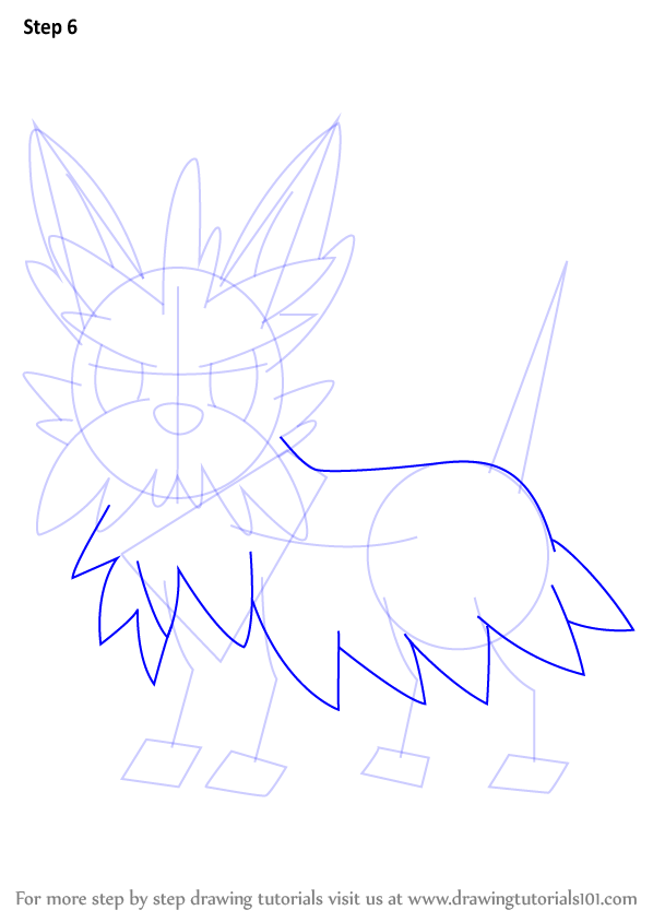 Step By Step How To Draw Herdier From Pokemon