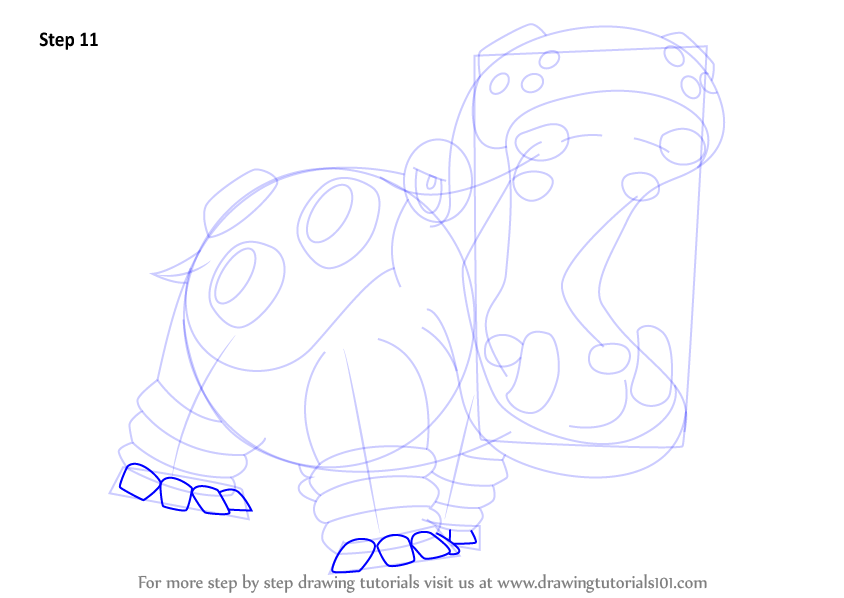 Step By Step How To Draw Hippowdon From Pokemon