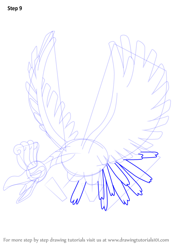 learn how to draw ho oh from pokemon pokemon step by step