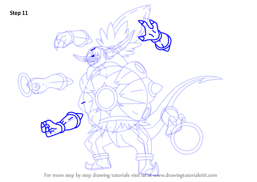 Step By Step How To Draw Hoopa Unbound From Pokemon