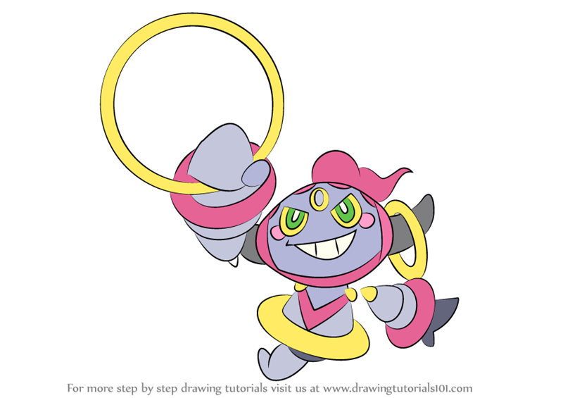 Learn How To Draw Hoopa From Pokemon Pokemon Step By