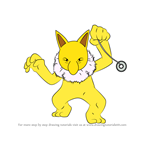 How to Draw Hypno from Pokemon