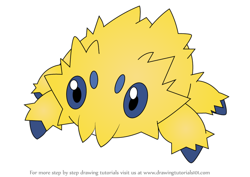 Learn How To Draw Joltik From Pokemon Pokemon Step By