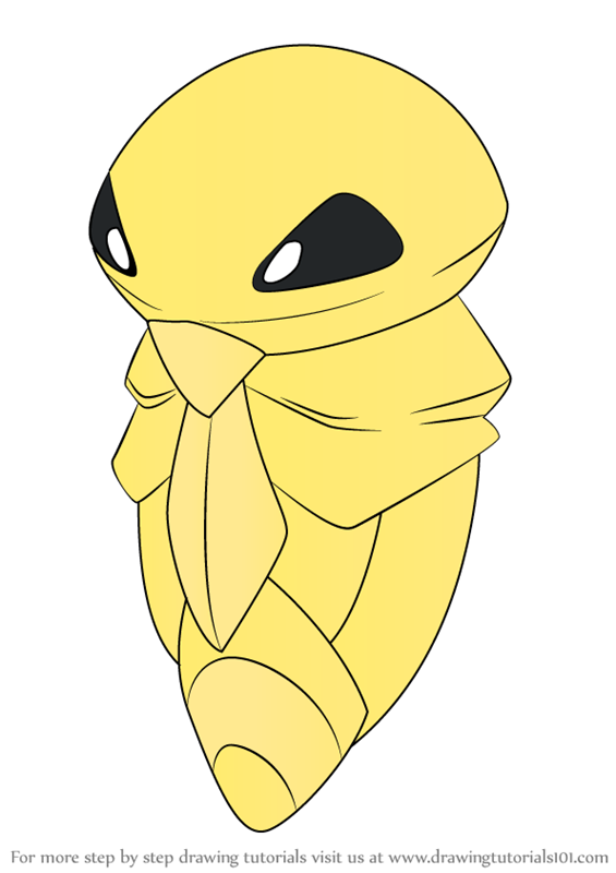Learn How To Draw Kakuna From Pokemon Pokemon Step By