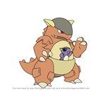 How to Draw Kangaskhan from Pokemon