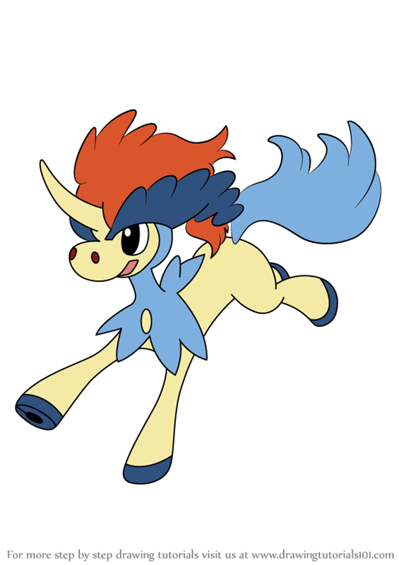 Learn How to Draw Keldeo from Pokemon (Pokemon) Step by