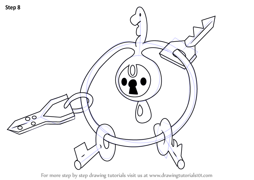 Step by Step How to Draw Klefki from Pokemon