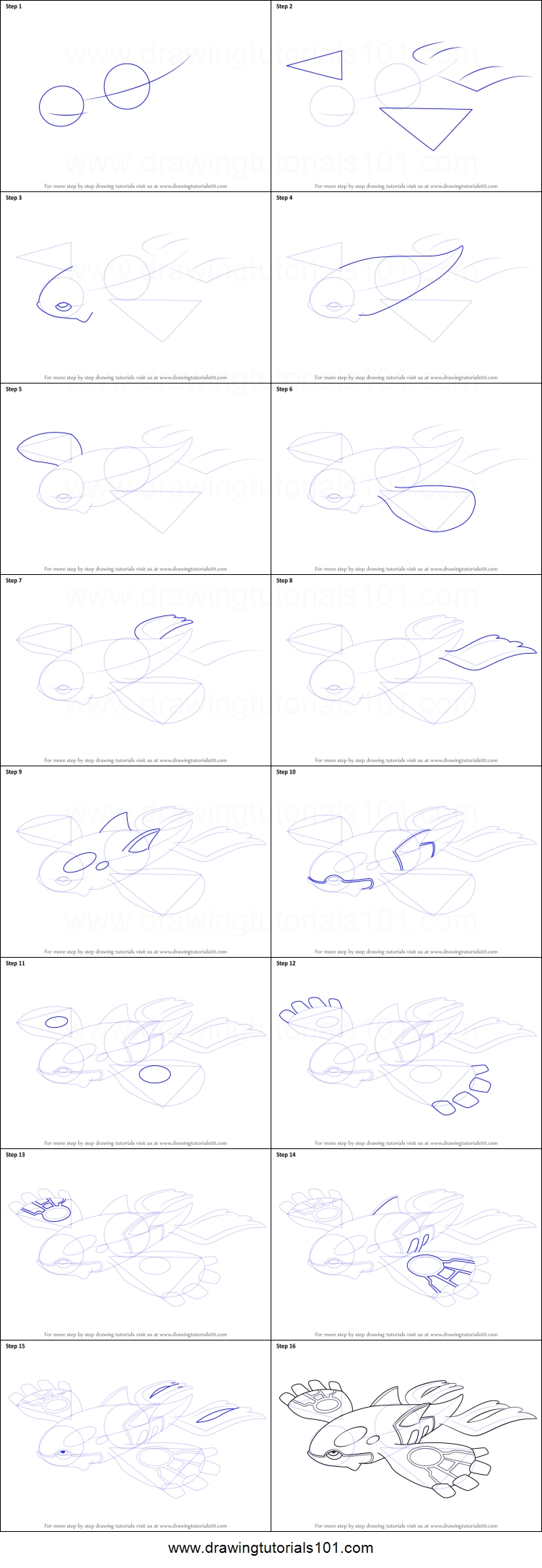Uncategorized How To Draw Kyogre how to draw kyogre from pokemon printable step by drawing sheet drawingtutorials101 com
