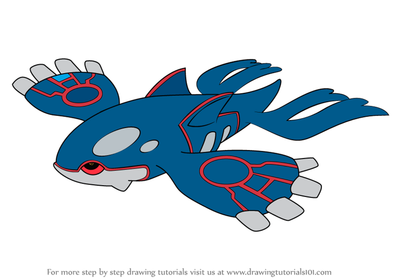 How to draw kyogre from pokemon
