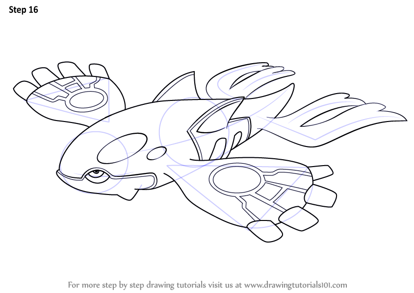 Primal Kyogre Coloring Page learn how to draw kyogre from pokemon (pokemon) stepstep