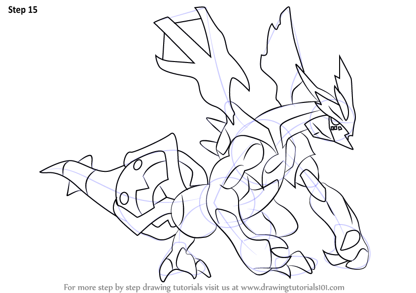 Learn How to Draw Kyurem from Pokemon Pokemon Step by