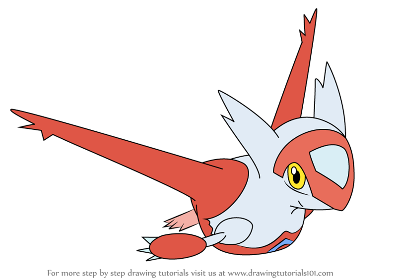 Learn How to Draw Latias from Pokemon (Pokemon) Step by Step : Drawing ... How To Draw Animals For Kids