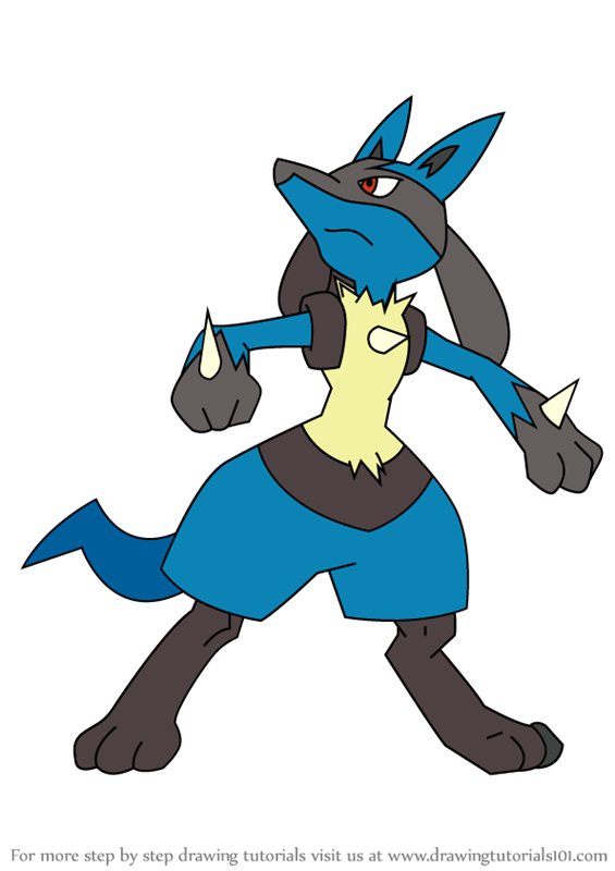 Step By Step How To Draw Lucario From Pokemon